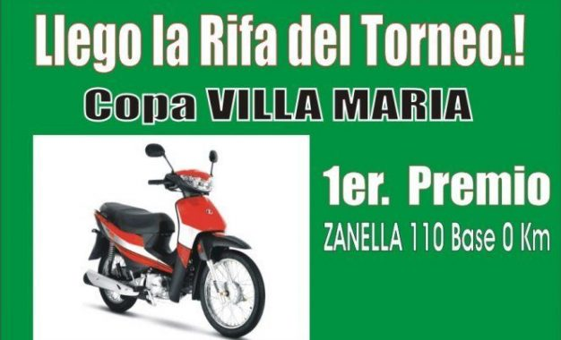 ATENCION CLUBES YA LLEGO LA RIFA DEL TORNEO..!! Financia tu participación en la próxima Copa Villa Maria mediante su venta..